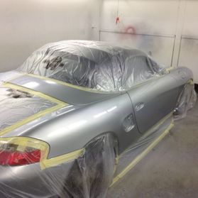 Porsche drivers side repair and paint
