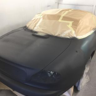 Jaguar XK8 1998 Convertible Complete Repaint - Primer applied