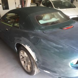 Jaguar XK8 1998 Convertible Complete Repaint - quater panel repair & paint